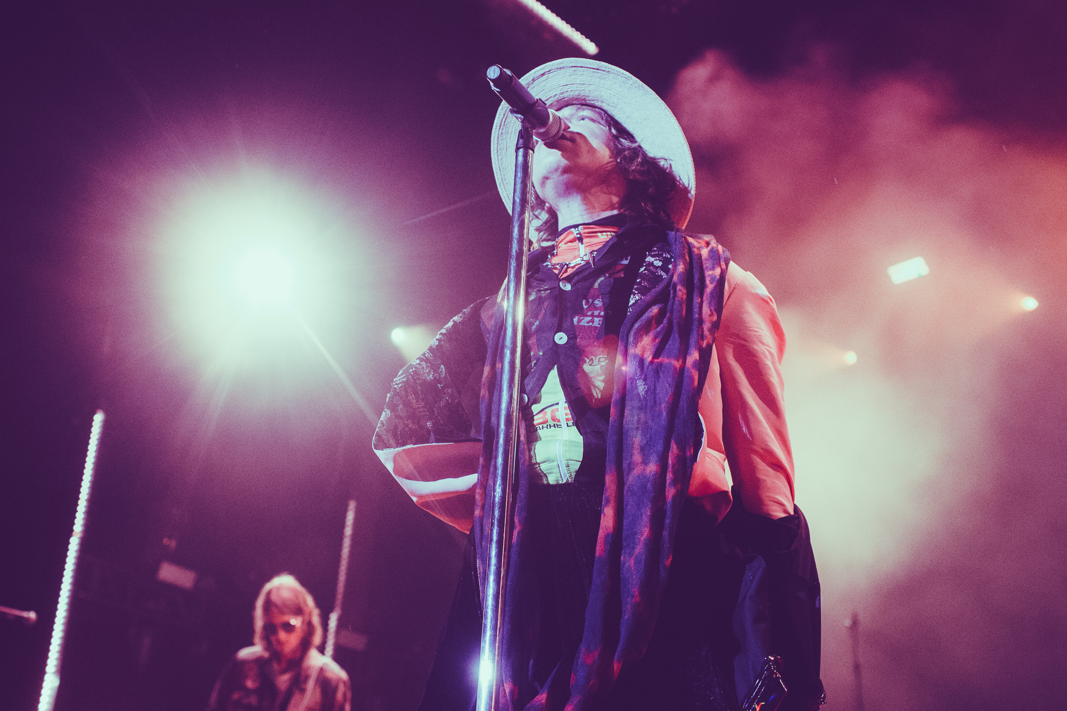 Cage the Elephant performs at the Oak Mountain Amphitheatre in Birmingham, Alabama on August 27th, 2019. (Photo by David A. Smith / DSmithScenes)