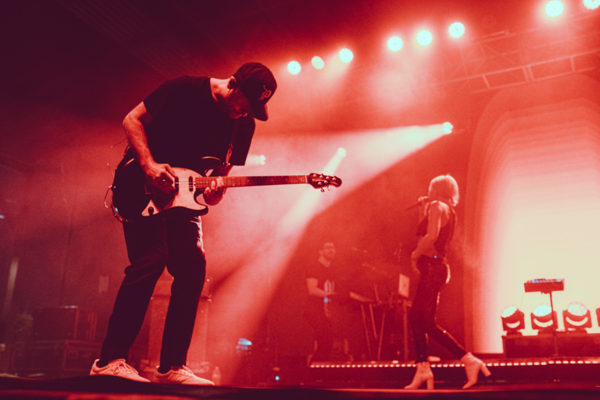 Phantogram performs in concert at Avondale Brewing in Birmingham, Alabama on September 10th, 2019. (Photo by David A. Smith / DSmithScenes)