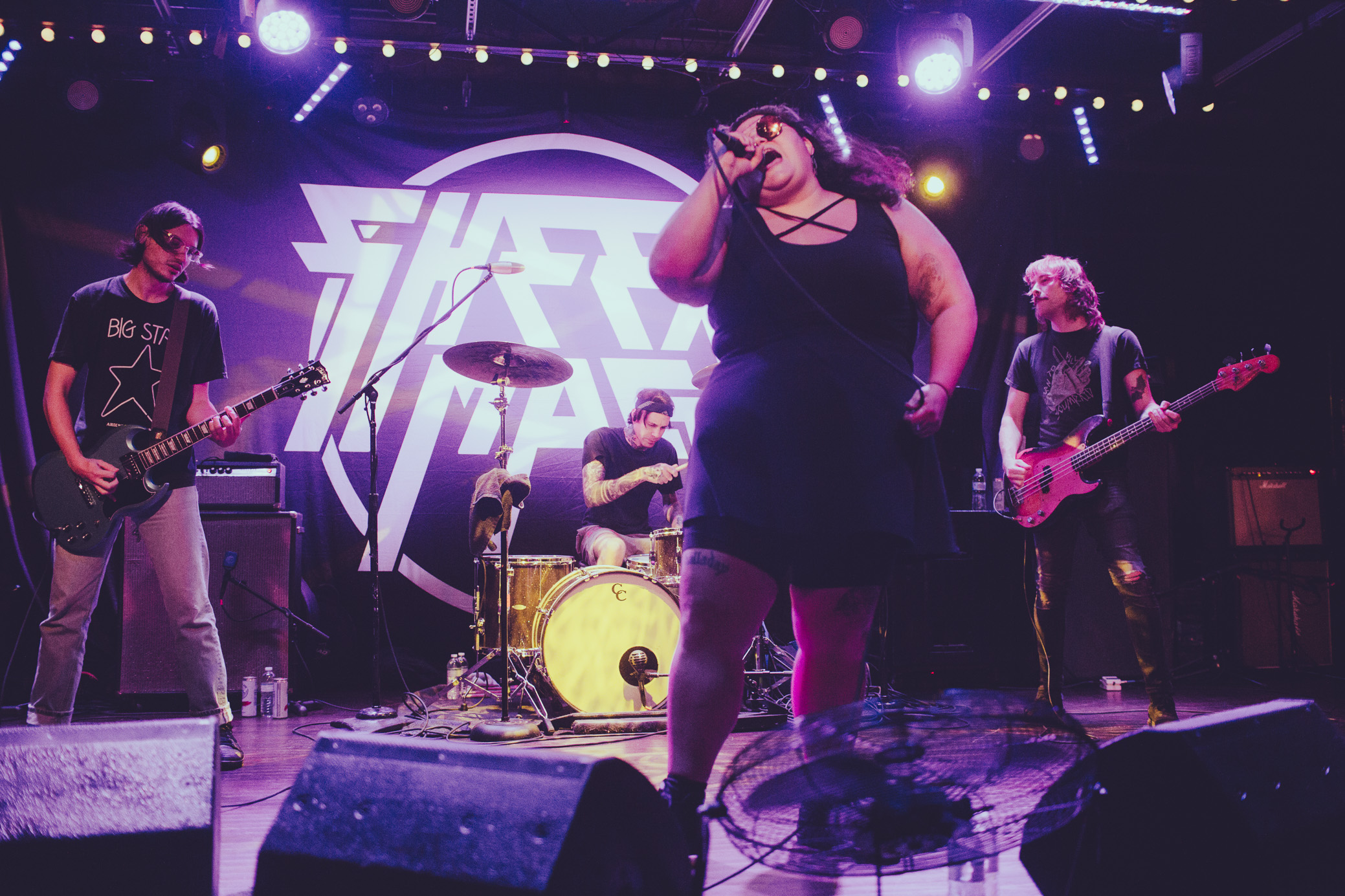 Sheer Mag performs in concert at Saturn Birmingham in Birmingham, Alabama on October 1st, 2019. (Photo by David A. Smith / DSmithScenes)