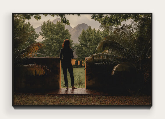 """  The Sound  "" from ""  Banhoek  "" 46.8 x 31.2 cm Archival pigment print on 100% cotton rag. Edition of 5 + 1 AP  View Collection 〉"