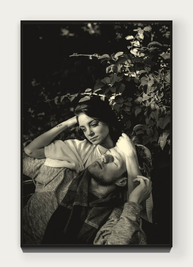 """  Mon Amour  "" from ""  Les Amants  "" 29.6 x 19.8 cm (11.65 x 7.8 in) Archival pigment print on 100% cotton rag. Edition of 5 + 1 AP  View Collection 〉"