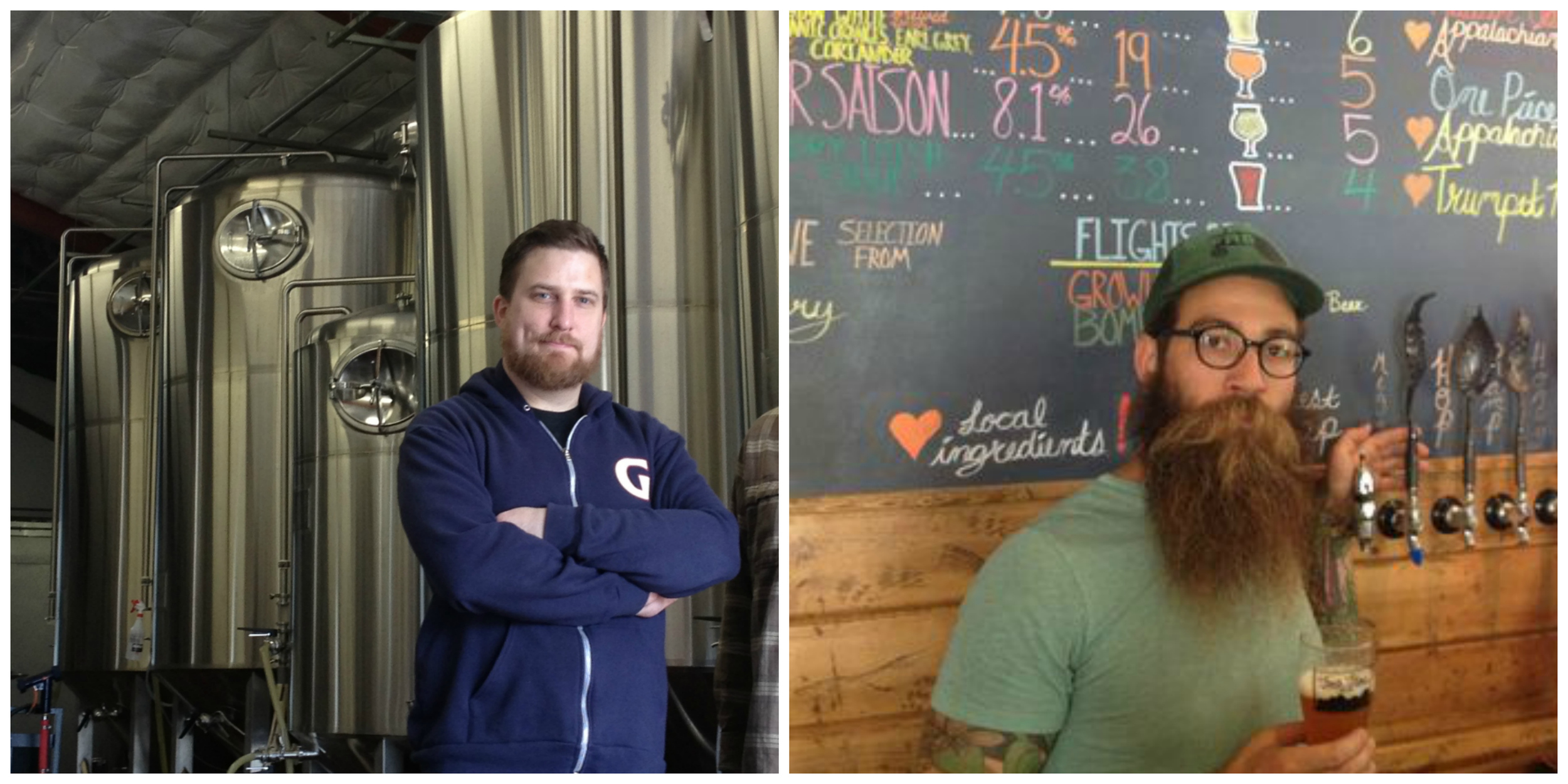 Ben Love of Gigantic Brewing (left) and Todd Boera of Fonta Flora Brewing.