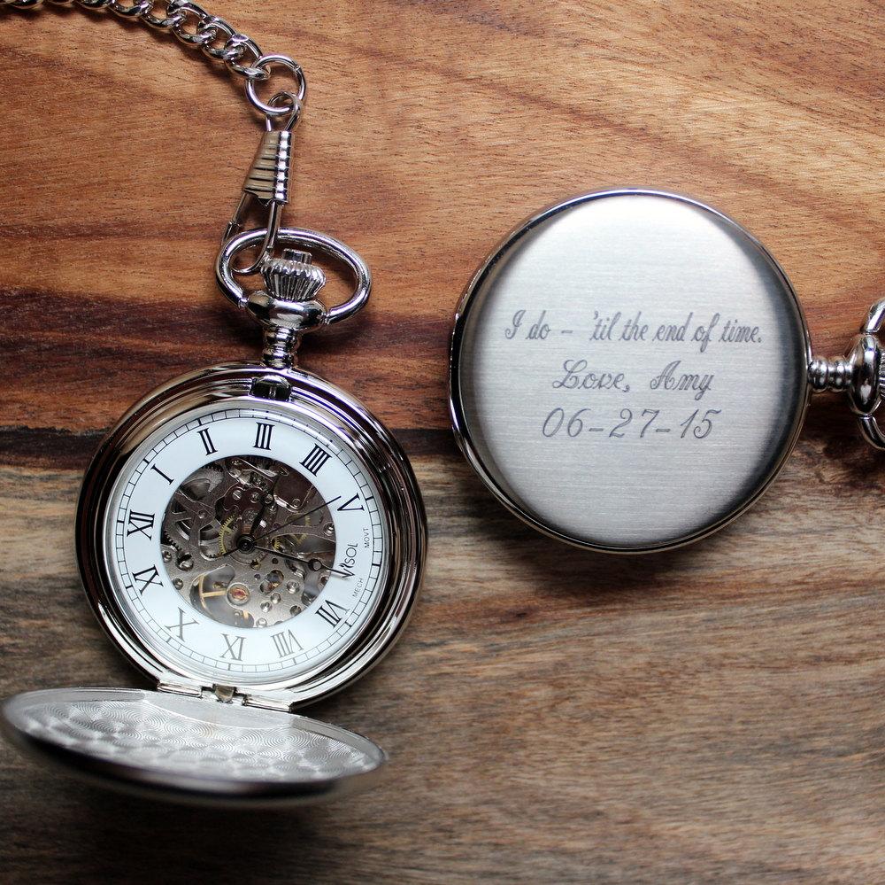 Pocket Watches, Engraved Groomsmen