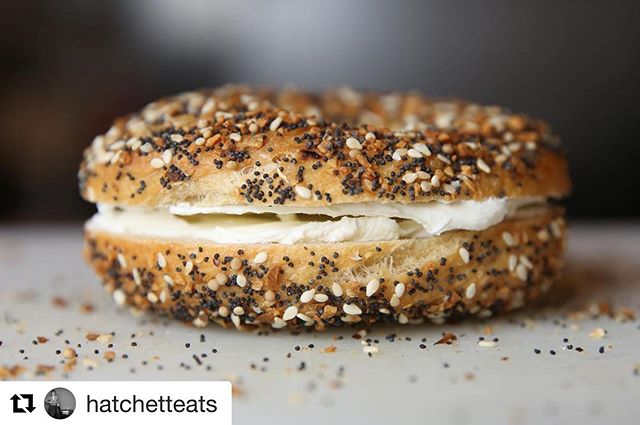 "Excited to announce that you can pre-order bagels all.the.time. on our website from now on! Link in our profile. HAPPY THURSDAY. #Repost @hatchetteats with @get_repost ・・・ ""Hey, girl. You know you want me."" - A water- and @yardsbrew IPA-boiled everything bagel from @phillystylebagels. . . . . #eeeeeats #phillystylebagels #starchefs #whatsforbreakfast #everythingbagel #heygirl #schmear #phillyeats #ipa"