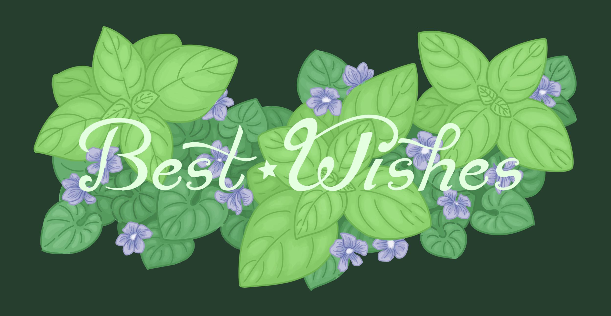 Best Wishes Card Design