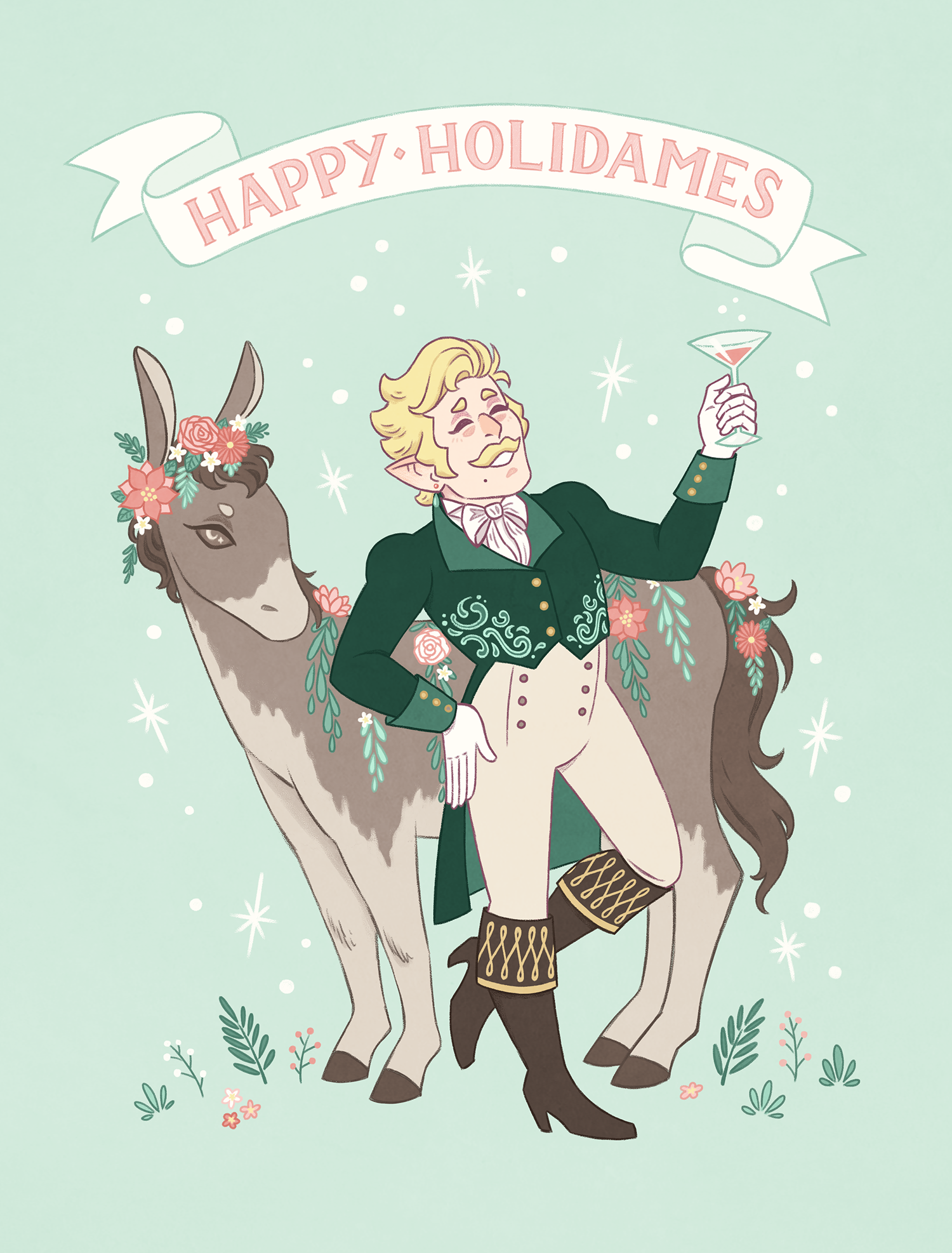 Dames and Dragons Holiday Card