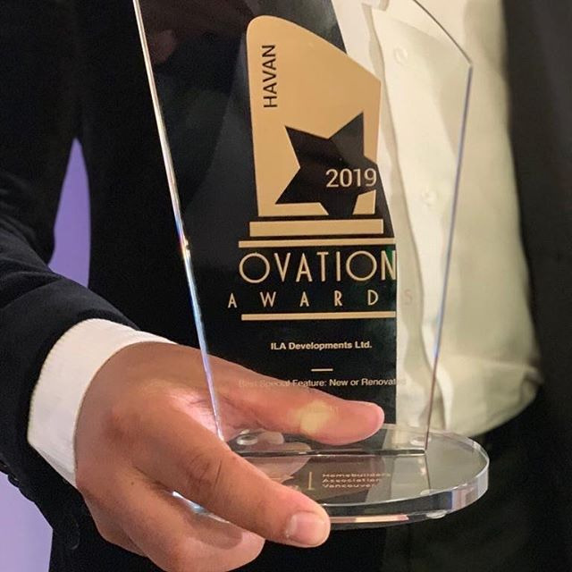 "The W 45th project we designed for ILA Developments won ""Best Special feature"" in one of the interior design categories @havanofficial Ovation awards! . . . . . . #awardwinning #ovationawards #fullserviceinteriordesign #yvrdesign #vancouverdesigners #newconstruction #interiordesign #interiors @adnan.luxury.homes"