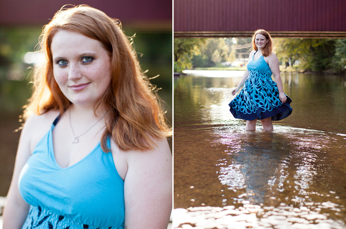 Senior-Portrait-Red-Hair-Blue-Dress-Standing-Water-Ken-Bruggeman-Photography-York-PA.jpg