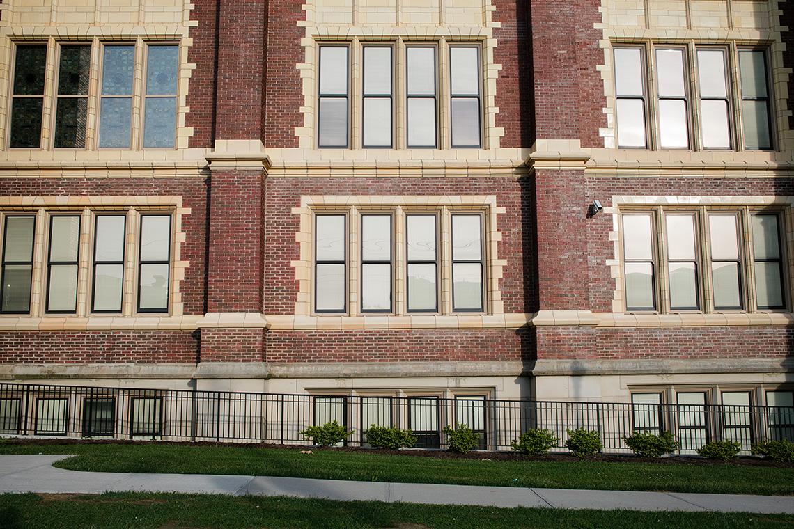 2_Hughes_High_School_Cincinnati_OH_Exterior_Windows_Rows_Ken_Bruggeman_Photography_York_PA.jpg