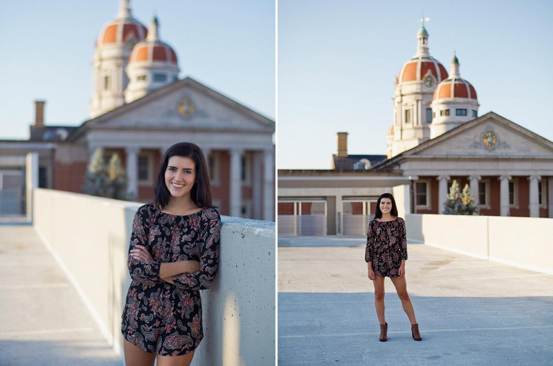 5-York-PA-Ken-Bruggeman-Photography-Senior-Portraits-Young-Woman-Smiling-Standing-Roof.jpg