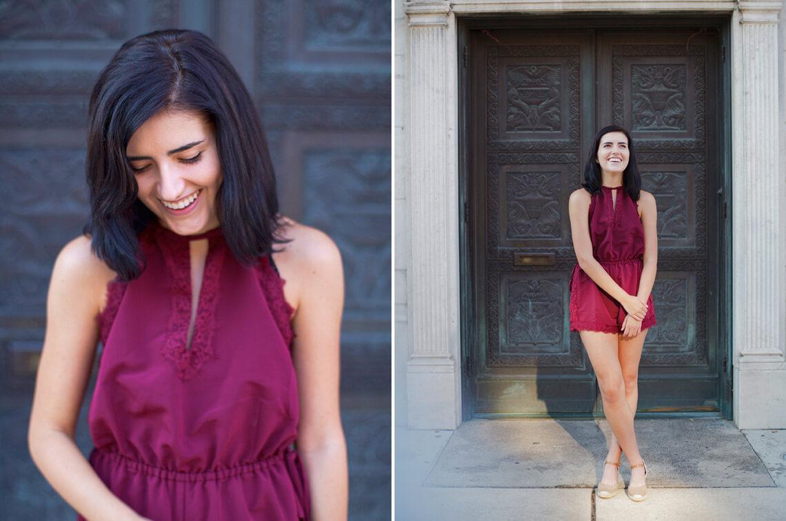 9-York-PA-Ken-Bruggeman-Photography-Senior-Portraits-Young-Woman-Laughing-Cast-Iron-Doors.jpg