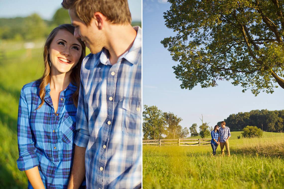 1-Ken-Bruggeman-Photography-York-PA-Engagement-Couple-Smiling-Under-Tree.jpg
