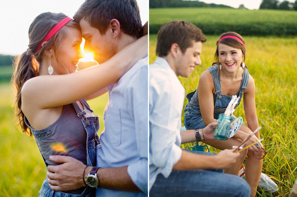 11-Ken-Bruggeman-Photography-York-PA-Engagement-Couple-Smiling-Painting-Field.jpg