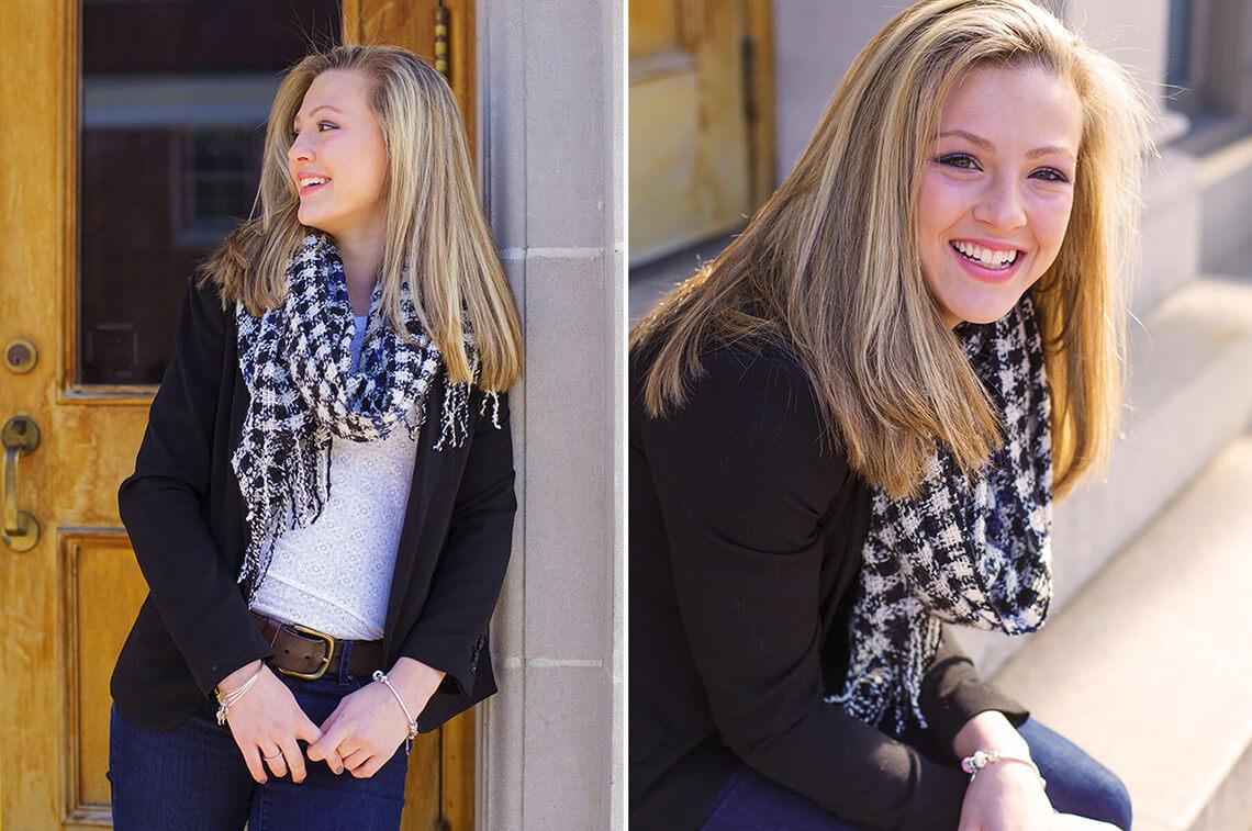 1-Ken-Bruggeman-Photography-Senior-Portrait-Photographer-York-PA-Blonde-Girl-Standing-Door-Smiling.jpg