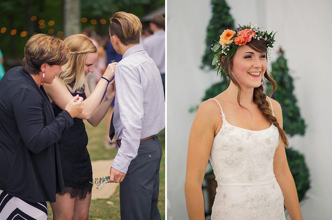 13-Wedding-Photographer-York-PA-Ken-Bruggeman-Pinning-Corsage-Bride-Laughing.jpg