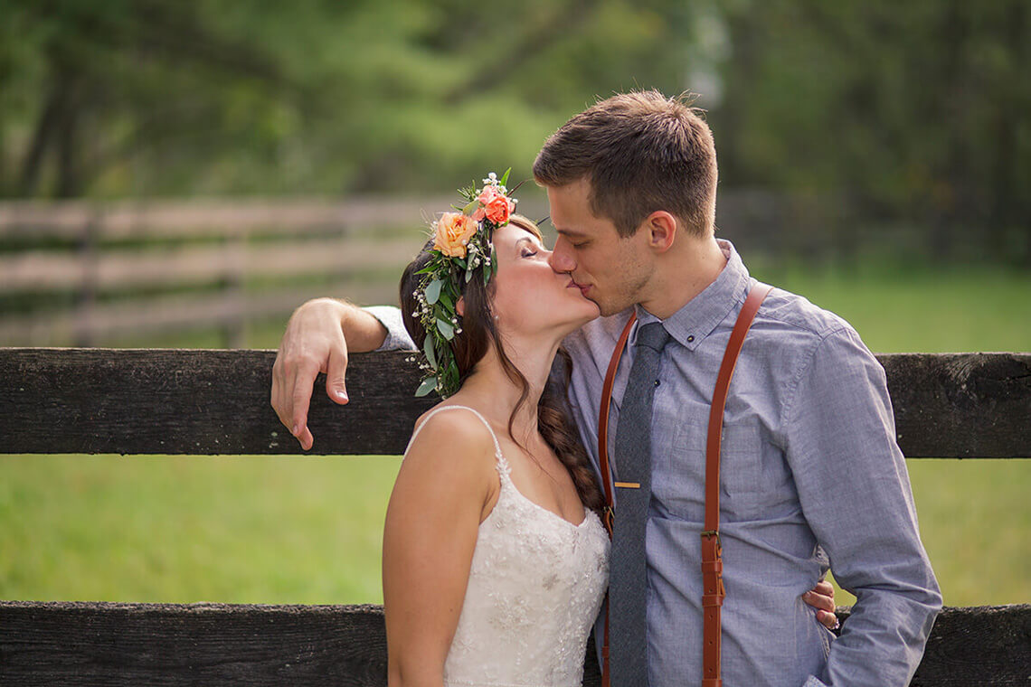 24-Wedding-Photographer-York-PA-Ken-Bruggeman-Bride-Groom-Kissing-Farm.jpg
