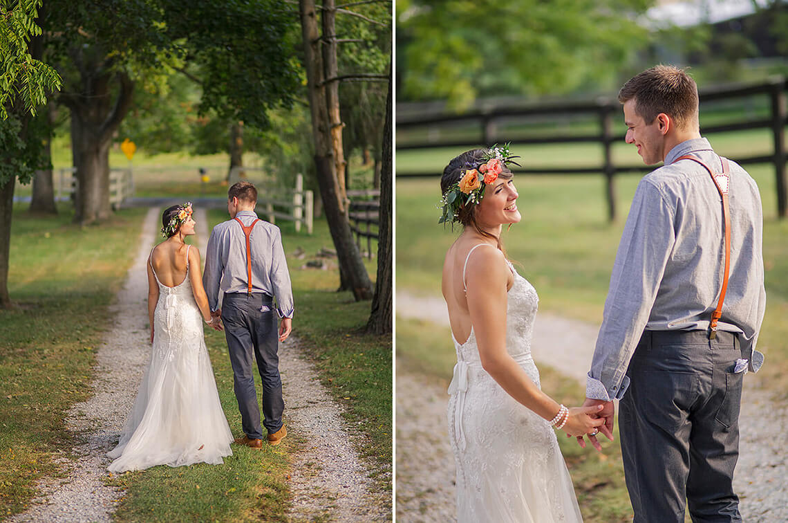 23-Wedding-Photographer-York-PA-Ken-Bruggeman-Bride-Groom-Walking-Sunset-Lane.jpg