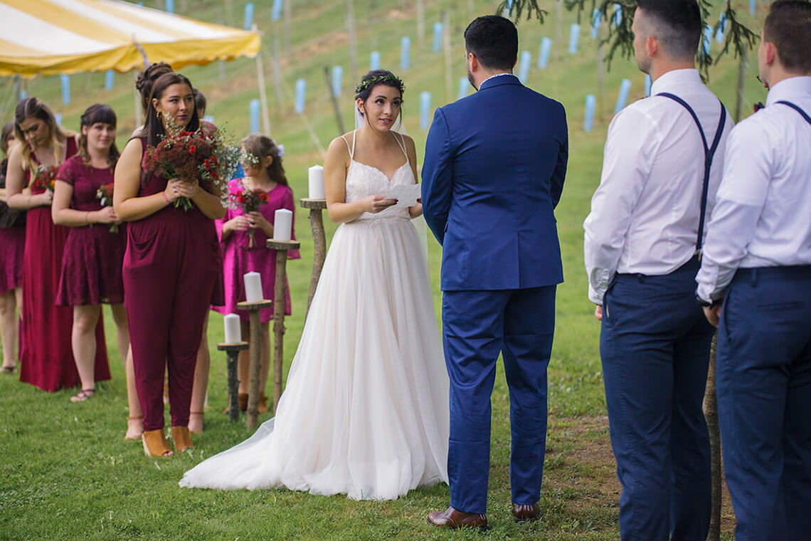 3-Wedding-Photographer-York-PA-Ken Bruggeman-Photography-Bride-Reading-Vows.jpg