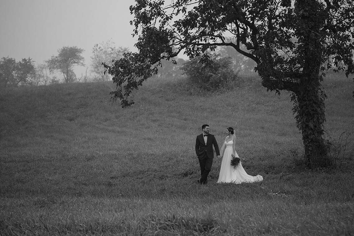 8-Wedding-Photographer-York-PA-Ken Bruggeman-Photography-Bride-Groom-Black-White-Standing-Under-Tree.jpg