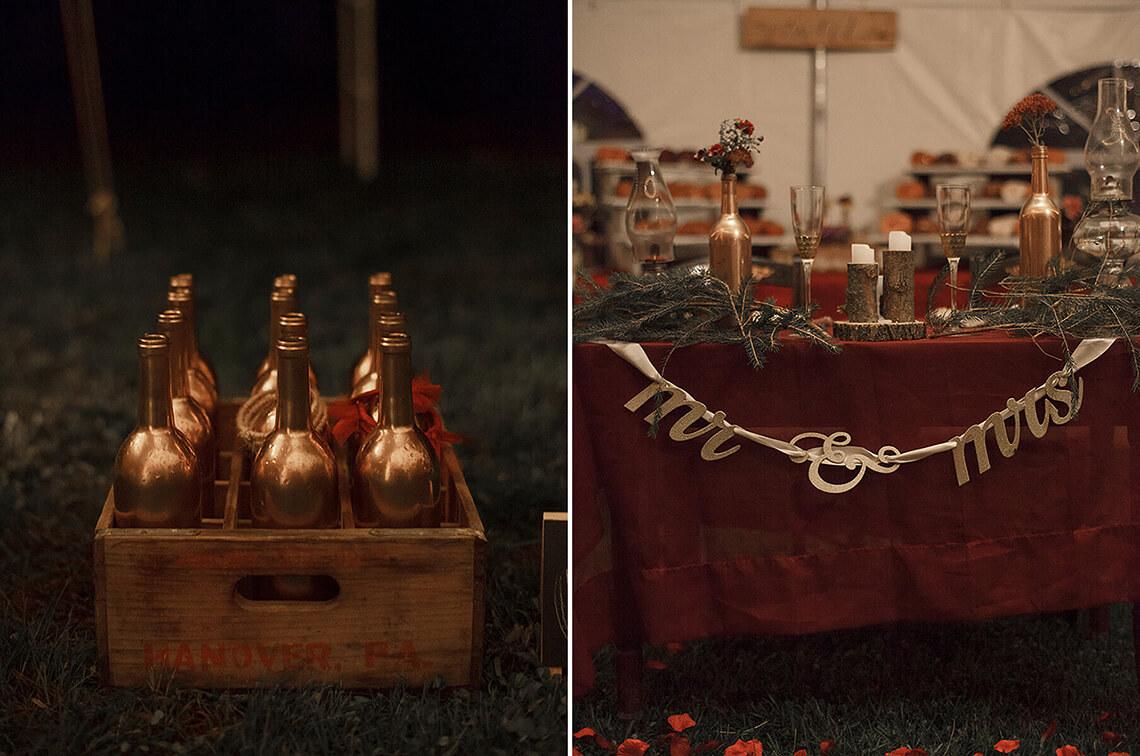 19-Wedding-Photographer-York-PA-Ken Bruggeman-Photography-Gold-Wine-Bottles-Decoration.jpg