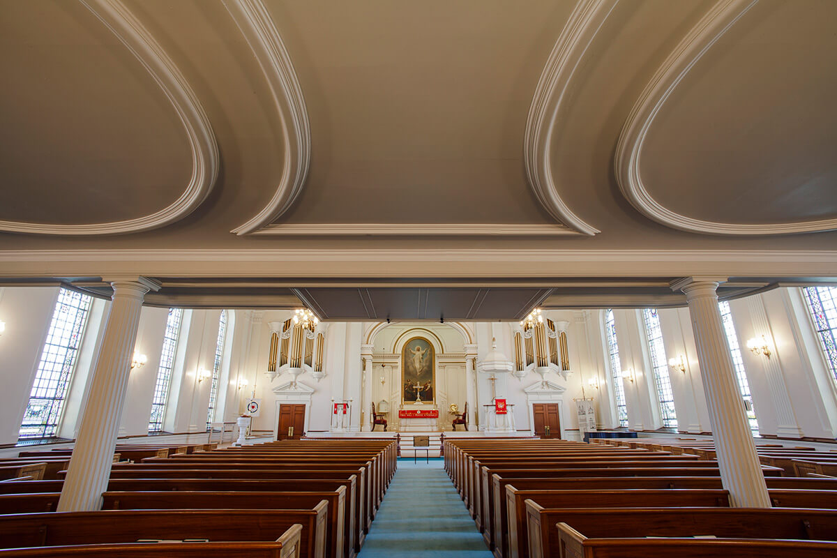 7-Ken-Bruggeman-Photography-York-PA-Commercial-Photographer-Architecture-Church-Christ-Lutheran-Below-Pipe-Organ.jpg