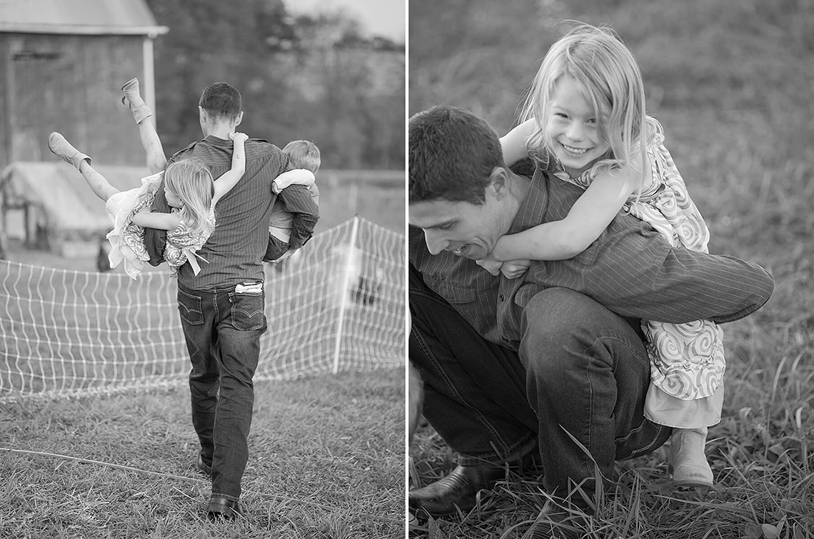 14-Family-Photographer-York-PA-Ken-Bruggeman-Photography-Phillips-Family-Portraits-Black-White-Dad-Playing-Children-Farm.jpg