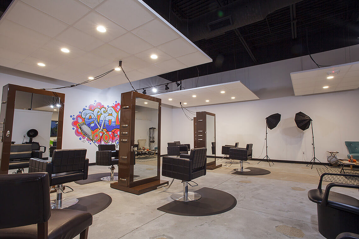 7-Commercial-Architectural-Photographer-York-PA-Ken-Bruggeman-Photography-Evolve-Salon-Hair-Styling-Area-Photo-Studio-Wall.jpg
