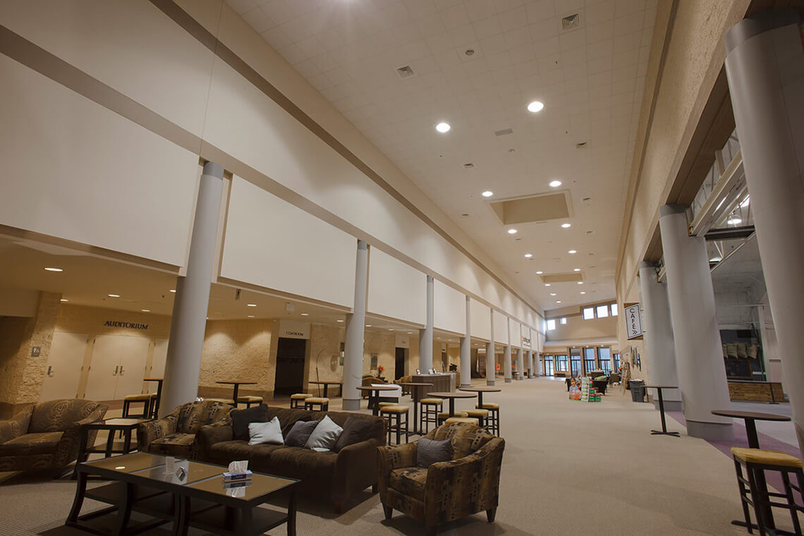 3-Commercial-Architectural-Photographer-York-PA-Ken-Bruggeman-Photography-Grace-Fellowship-New-Salem-Campus-Long-Vaulted-Ceiling-Seating-Area.jpg