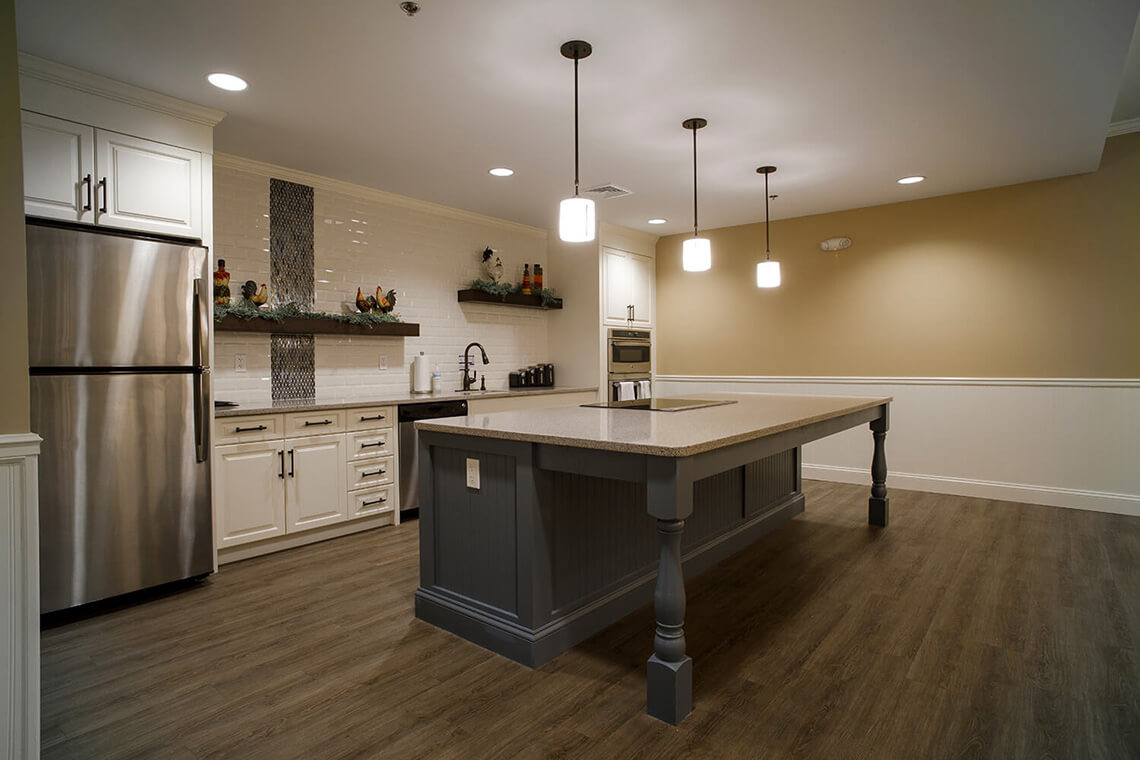 1-Commercial-Architectural-Photographer-York-PA-Ken-Bruggeman-Photography-Senior-Living-Home-Piney-Court-Laurel-Village-Kitchen-Island.jpg