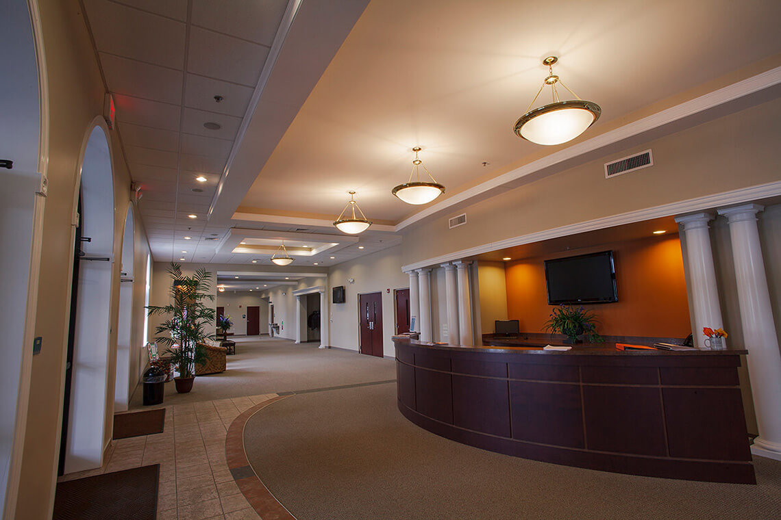 8-Commercial-Architectural-Photographer-York-PA-Ken-Bruggeman-Photography-Reamstown-Church-God-Front-Desk-Entrance-Beautiful-Lobby.jpg
