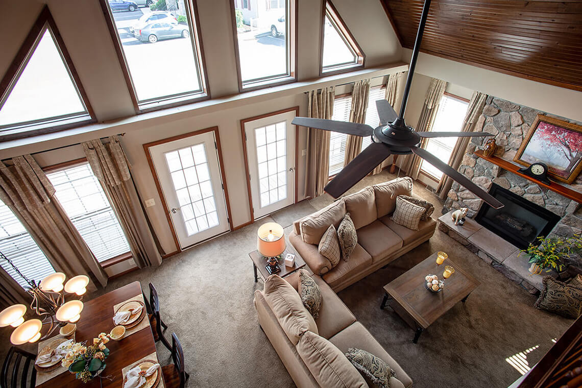 5-Commercial-Photography-Residential-Real-Estate-Interior-Ken-Bruggeman-Photography-York-PA-Pleasant-Valley-Homes-Vaulted-Ceiling-Loft-Looking-Down.jpg
