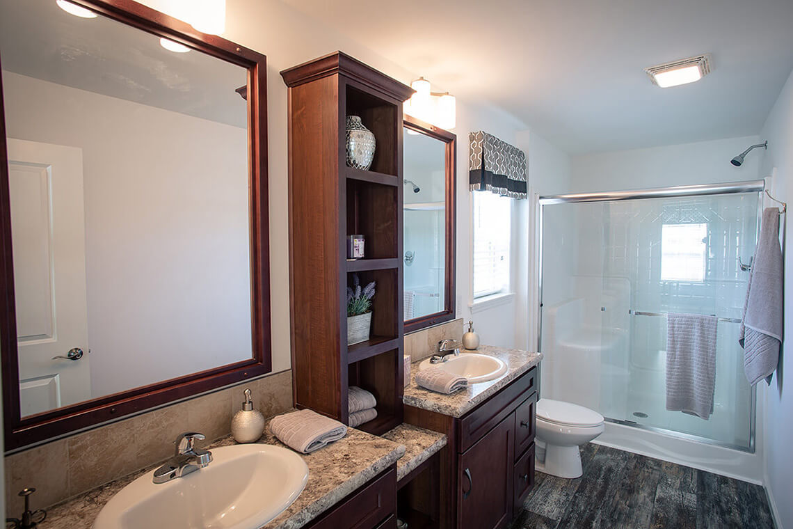 13-Commercial-Photography-Residential-Real-Estate-Interior-Ken-Bruggeman-Photography-York-PA-Pleasant-Valley-Homes-Dual-Sink-Bathroom-Wood-Shelving.jpg