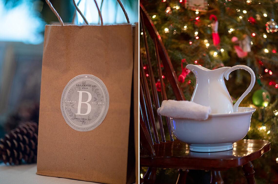 10-Wedding-Photograph-York-PA-Ken-Bruggeman-Photography-Water-Pitcher-Basin-Gift-Bags-Christmas-Lights.jpg