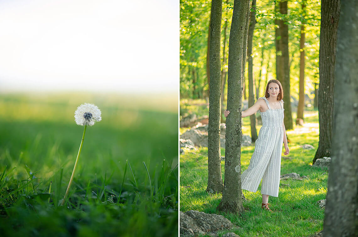 1-Senior-Portrait-Photographer-Near-York-PA-Ken-Bruggeman-Photography-Young-Woman-Standing-Trees-Dandilion-Field.jpg