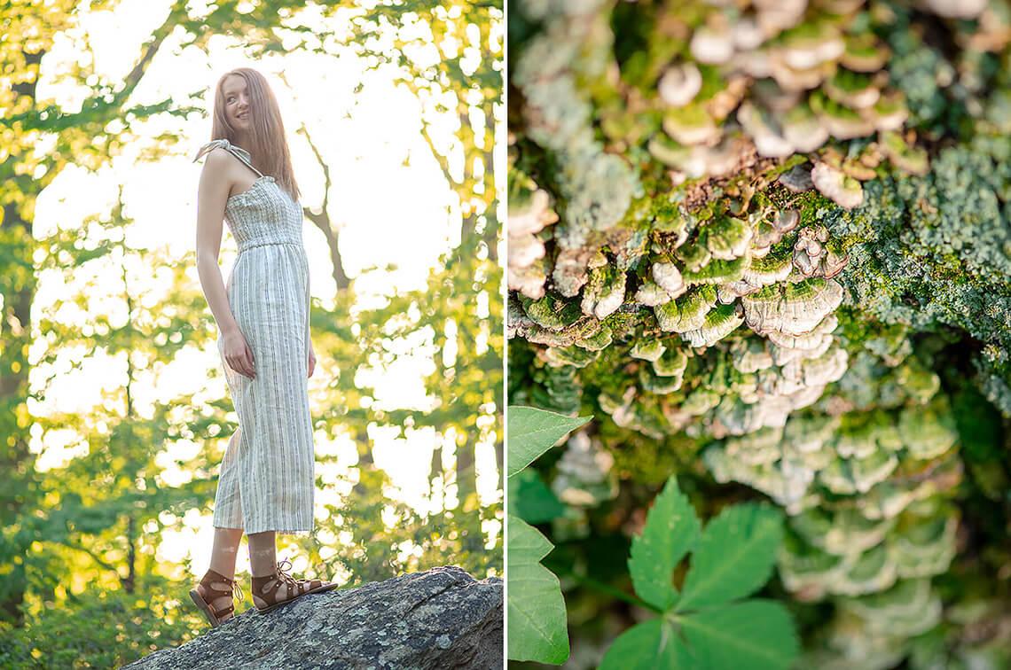 10-Senior-Portrait-Photographer-Near-York-PA-Ken-Bruggeman-Photography-Girl-Standing-Rock-Fungus-Growing-On-Tree.jpg