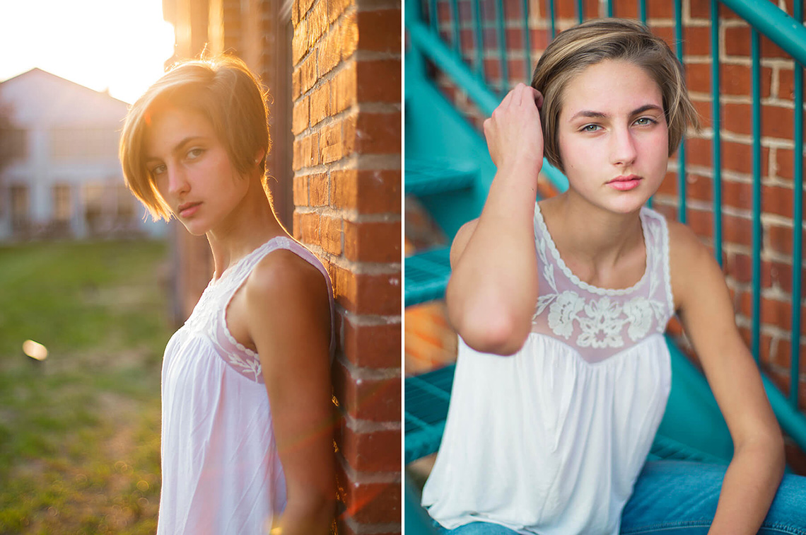 1-York-PA-Senior-Portraits-Ken-Bruggeman-Photography-Girl-Sitting-Stairs-Sunlight.jpg
