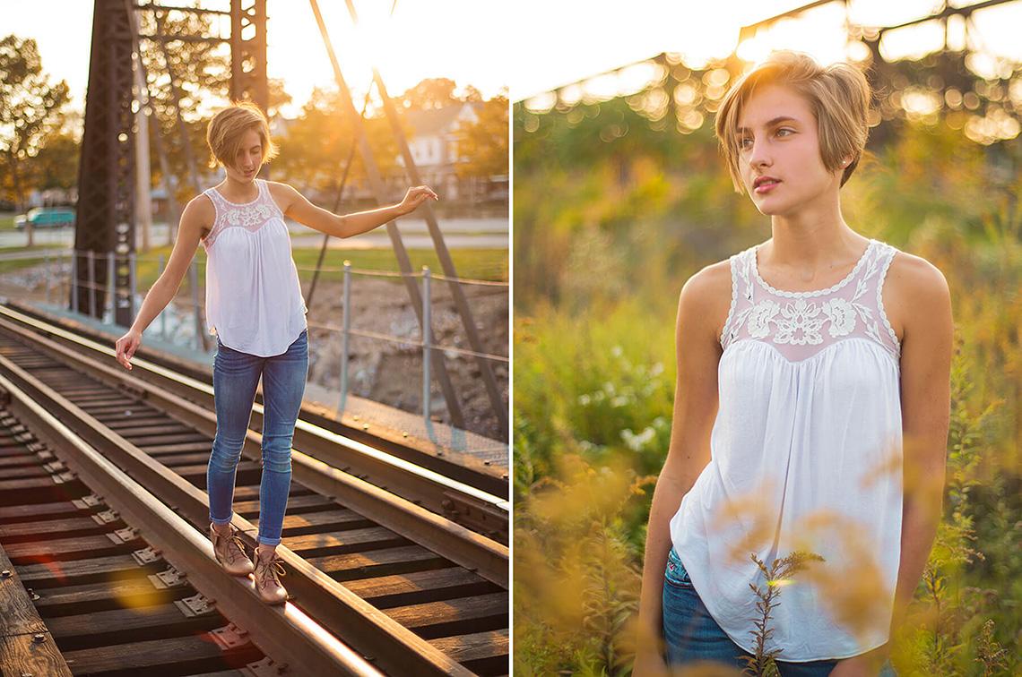 4-York-PA-Senior-Portraits-Ken-Bruggeman-Photography-Girl-Walking-Train-Tracks-Standing-Flowers.jpg