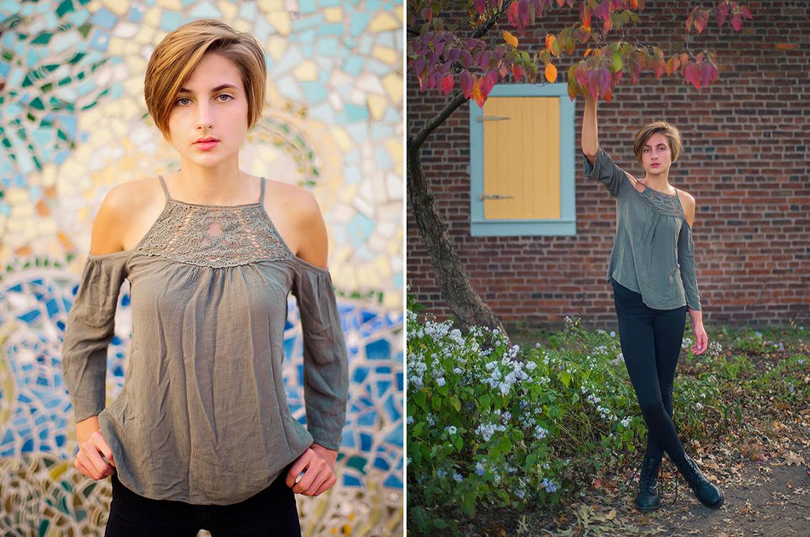 10-York-PA-Senior-Portraits-Ken-Bruggeman-Photography-Girl-Standing-Color-Mosaic-Autumn-Tree.jpg