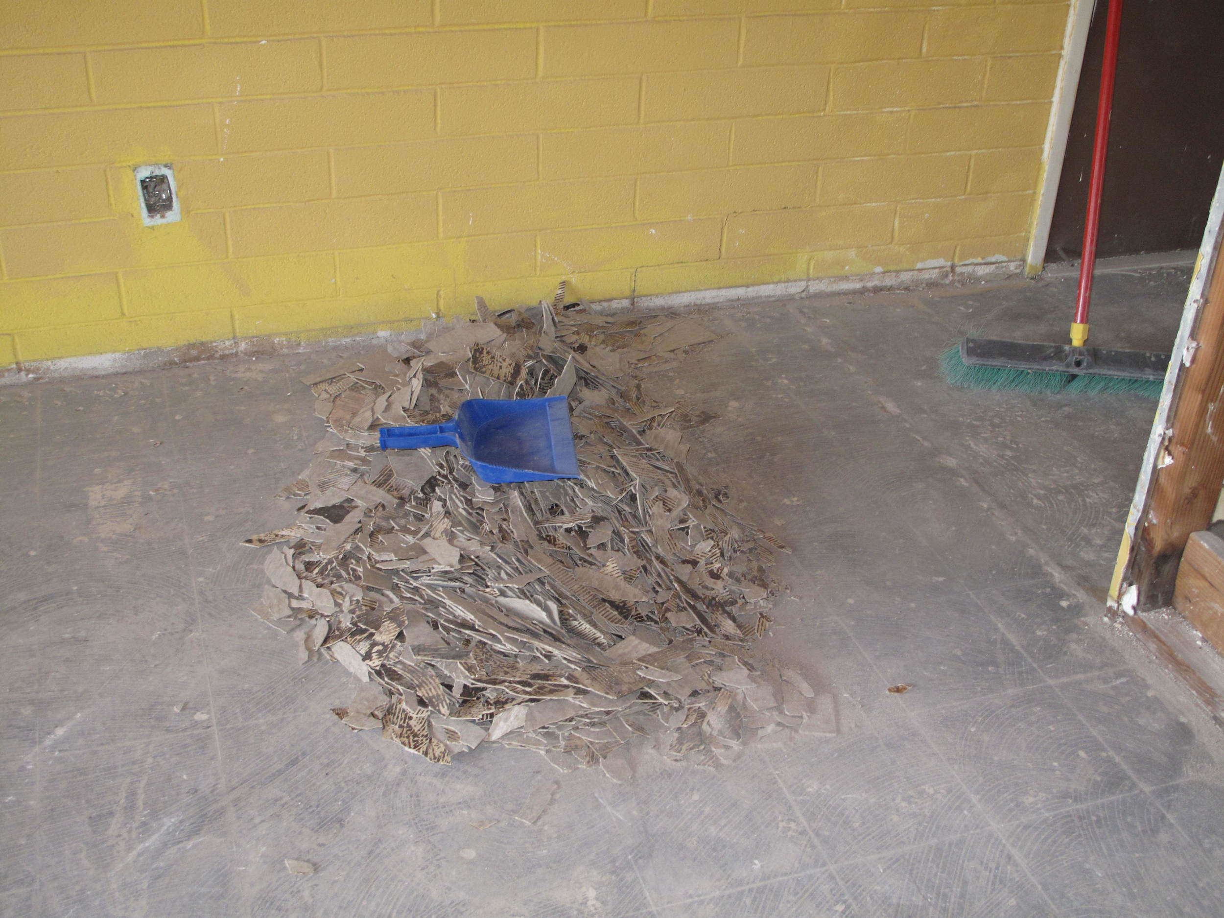 An hours really hard work (don't tell SWITBO). The dust pan and broom are for scale.
