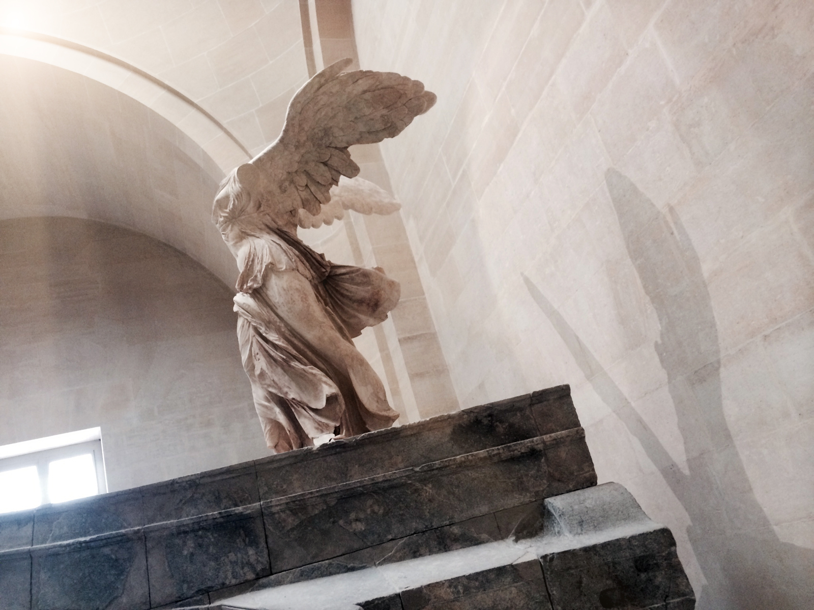 winged victory, the louvre, paris. august 2014. my view, for thirty glorious minutes.