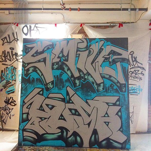 @jsonasty @iluvfunkysmiles killed it last night @individualartists #gnosis #hiphopartshow #okcart #okcgraffiti #okchiphop #hiphop #graffiti #5elements
