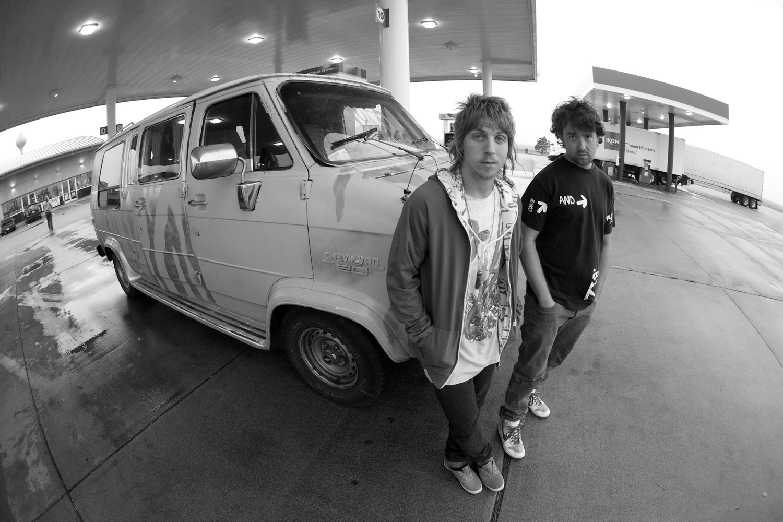 Alex Broskow and Adam Johnson, 2008 filming for On Top. Photo - J. Stephenson