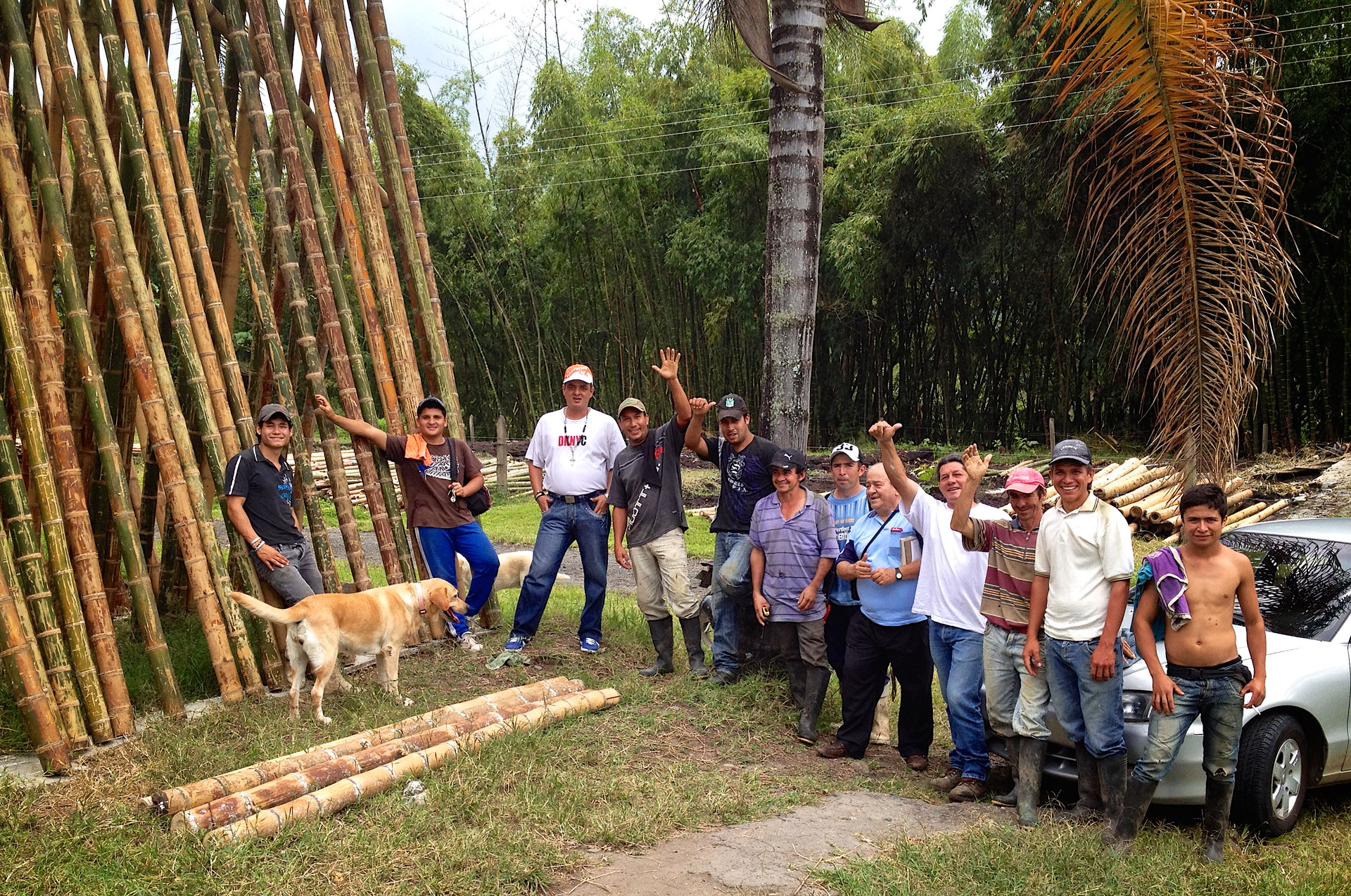 A few Guadua Bamboo Team members in Colombia