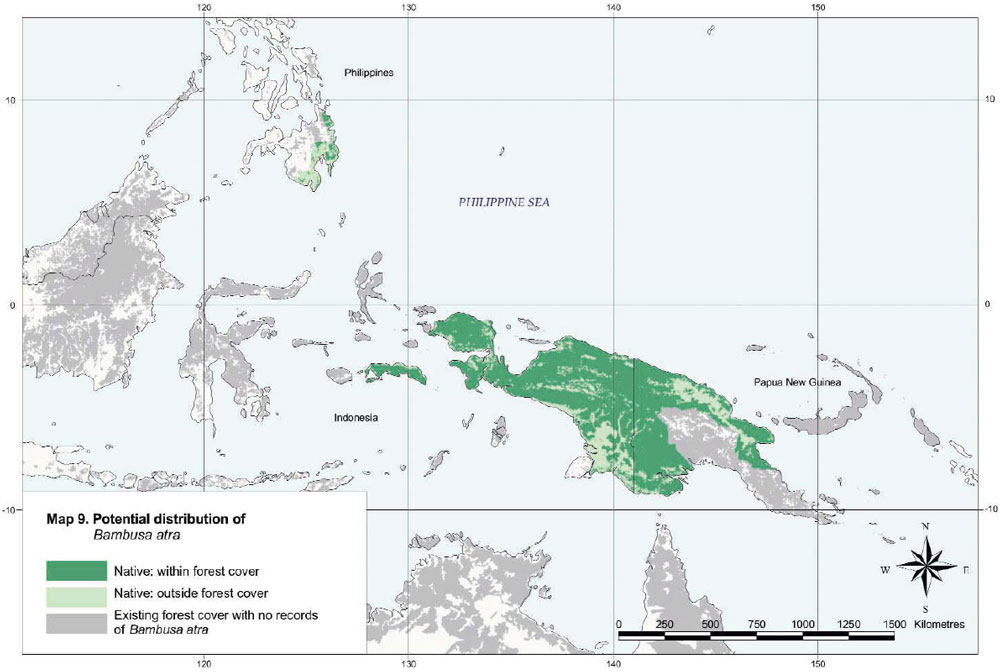 Bambusa atra Distribution Map