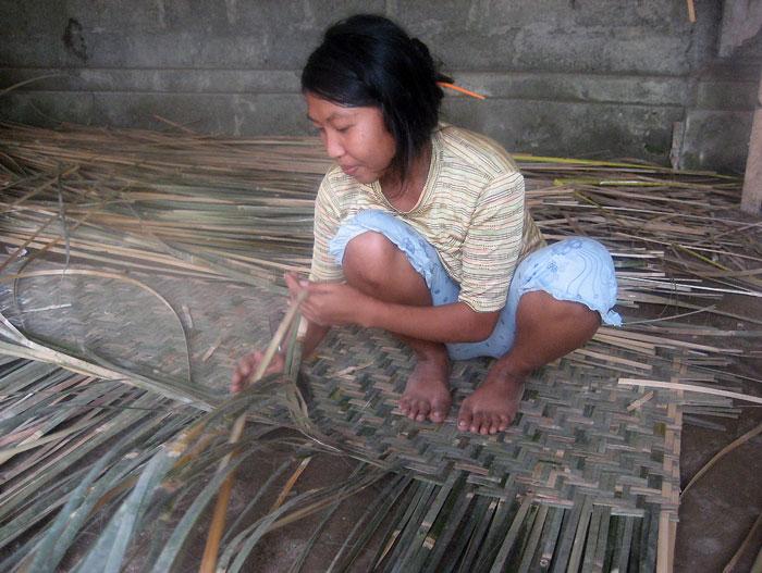 Bamboo Mat Weaving