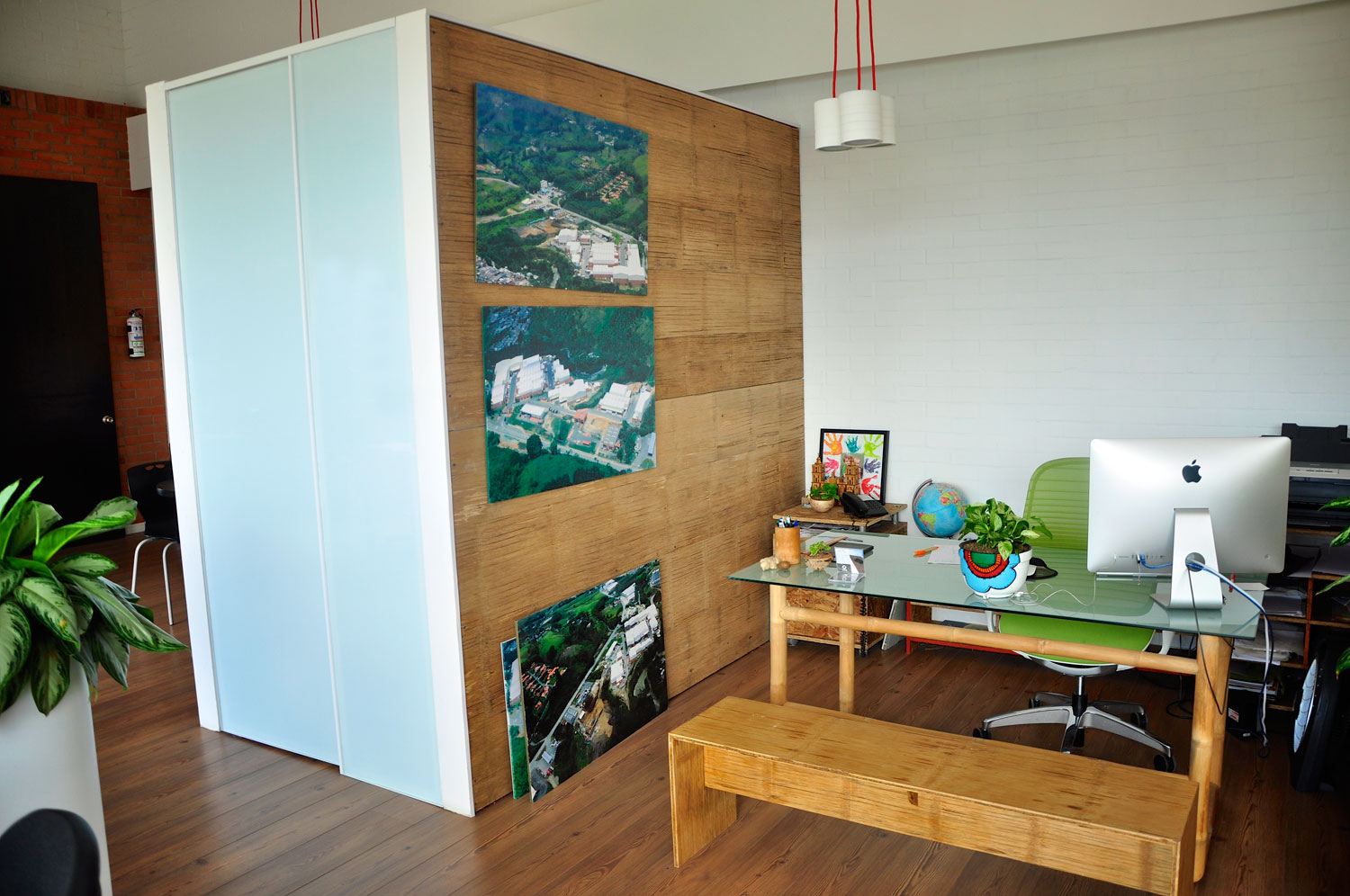 Crushed Bamboo Panel Wall