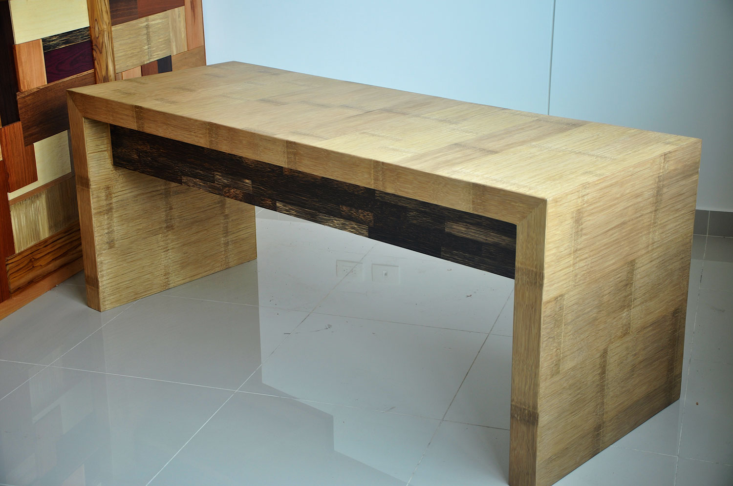 Crushed Bamboo Panel Table