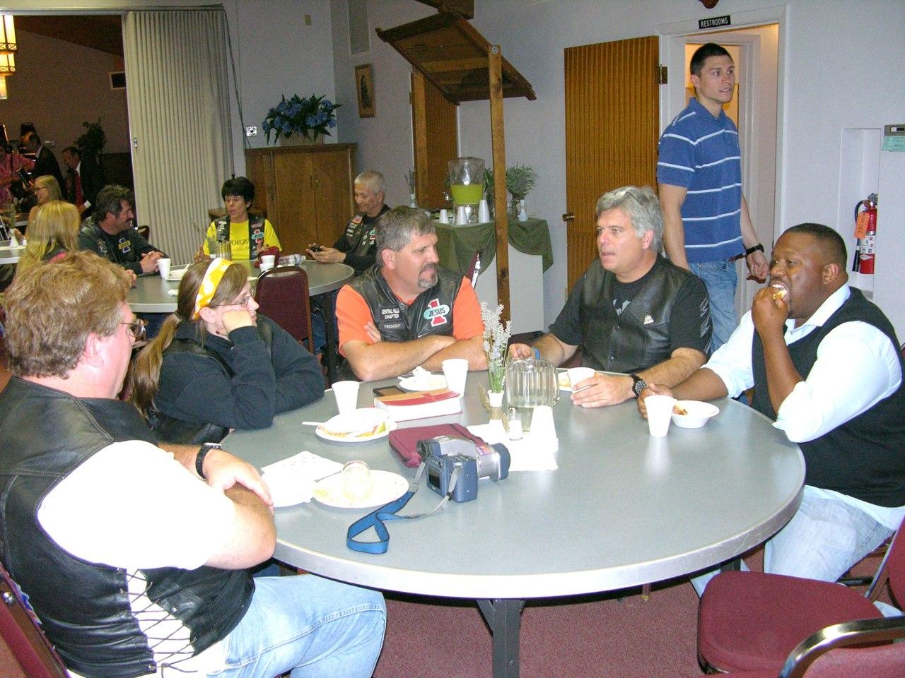 Biker Sabbath-Near table l to r Steve Allie Kevin Jonathan DJ Back table l to r Liz Wally Kim Akira.jpg