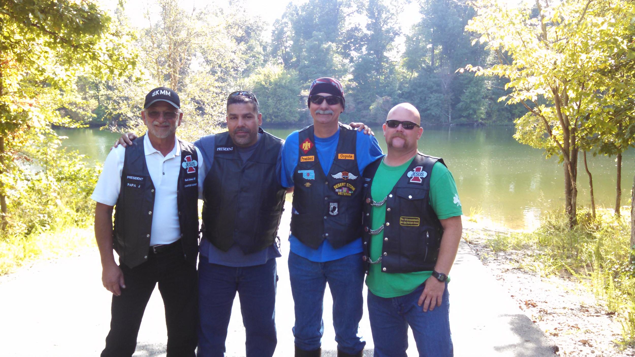 Chapter presidents from left to right: Jerry Watts (Wichita), Jamie Jimenez (Topeka), Donald Clark-(Oklahoma), Stuart Wolzen (Ottawa). Click on picture to enlarge.