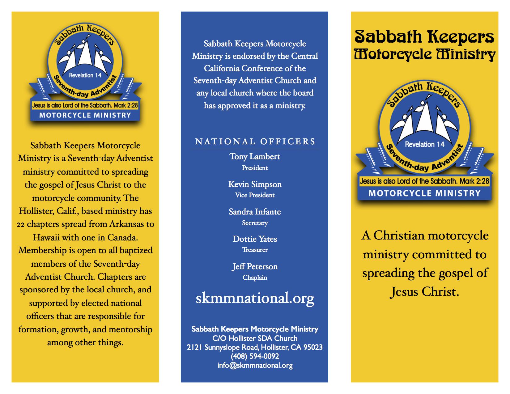 Front of brochure.